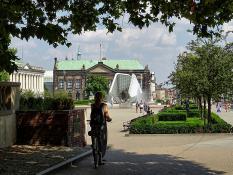Rowerem przez miasto . Plac Wolności
