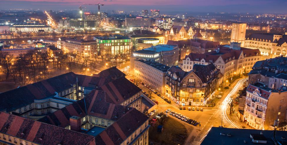 Poznań at Night