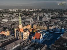 Poznański Ratusz z lotu ptaka