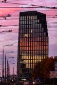 Jesienny wschód słońca odbity w Bałtyku