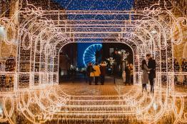 Świąteczny Poznań nocą