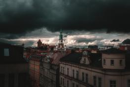 Deszczowa jesień w Poznaniu