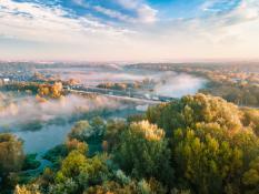 Jesienne mgły nad Wartą
