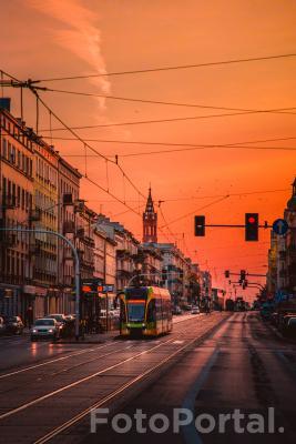 Jesienny wieczór na Głogowskiej