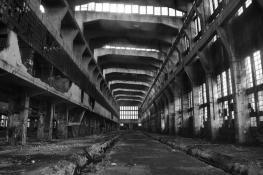 opuszczony budynek ZNTK
