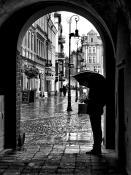 Stary Rynek w kroplach deszczu