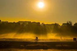 Wchód słońca nad Wartą