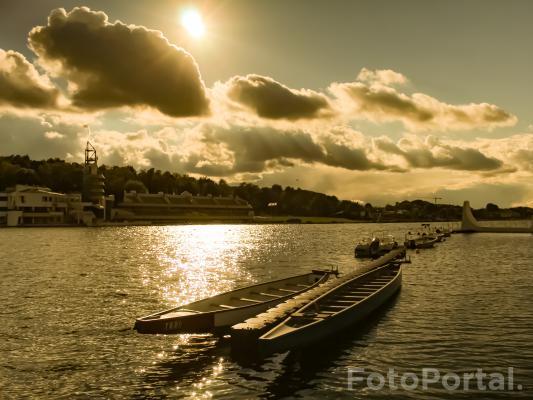 Październikowe popołudnie nad Jeziorem Maltańskim