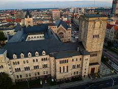 Zamek w centrum miasta