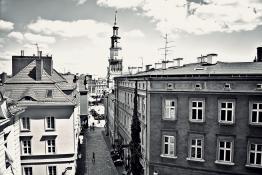 ul. Ludgardy, widok z Zamku Królewskiego na Starówkę, Poznań
