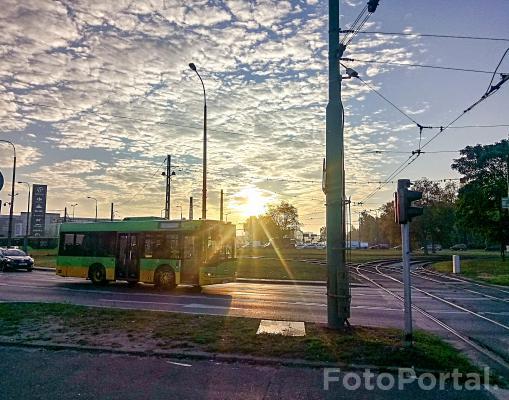 Wschód słońca nad Ratajami