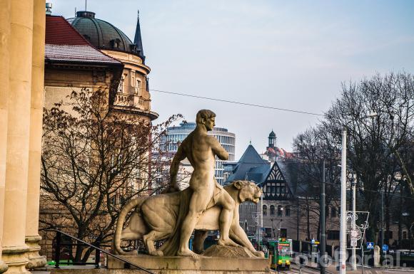 Piekny Poznań popołudniu