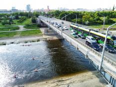 Most Królowej Jadwigi i rzeka Warta
