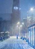 Ulica Aleksandra Fredry w śnieżnym tańcu