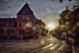 Zachód słońca nad Poznaniem