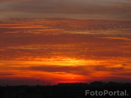 Ognisty zachód słońca