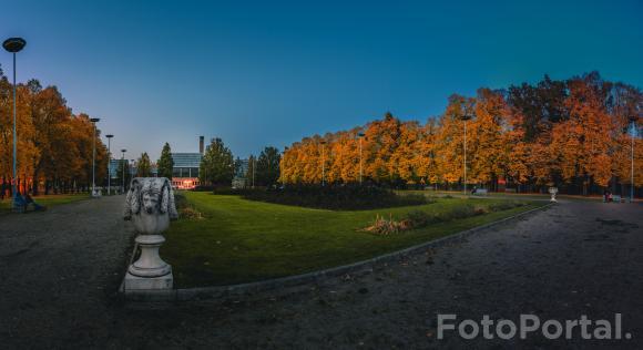 Październikowy wieczór w Parku Wilsona