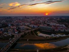 Zachód słońca nad Starym Miastem
