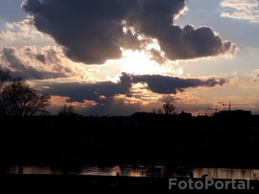 Wieczór nad rzeką Wartą