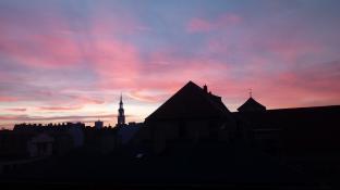 Zachód słońca - centrum