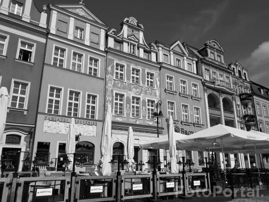 Czarnobiały Stary Rynek