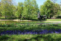 Kwiecień w parku K. Marcinkowskiego