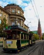 Historyczny tramwaj na ulicach Poznania